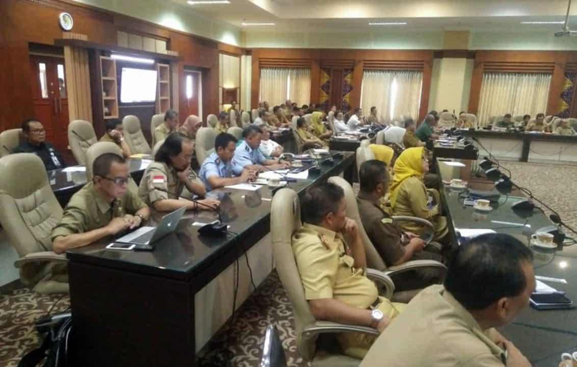 Komandan Lanud Sjamsudin Noor Ikuti Rakor Satgas Pencegahan, Pengendalian dan Penanganan Covid-19 di Wilayah Kalsel