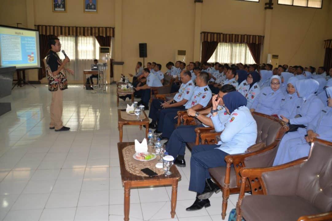 Komandan Lanud Muljono hadiri Ceramah Virus Corona