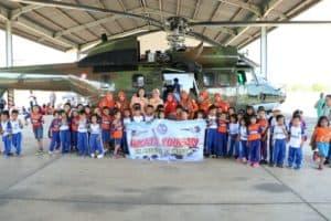 TK Angkasa, TK Kartika Jaya Yonkav dan SMA Negeri 10 Sidrap Tumbuhkan Minat Kedirgantaraan