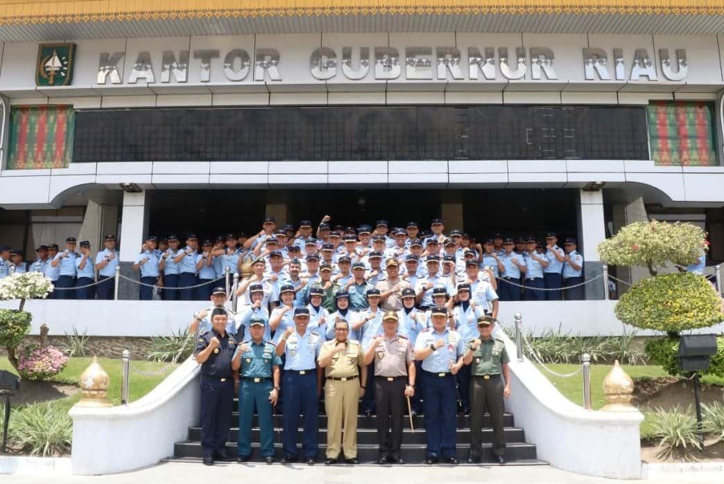 Pasis Seskoau A-57 dan Sesau A-13 Kunjungi Provinsi Riau