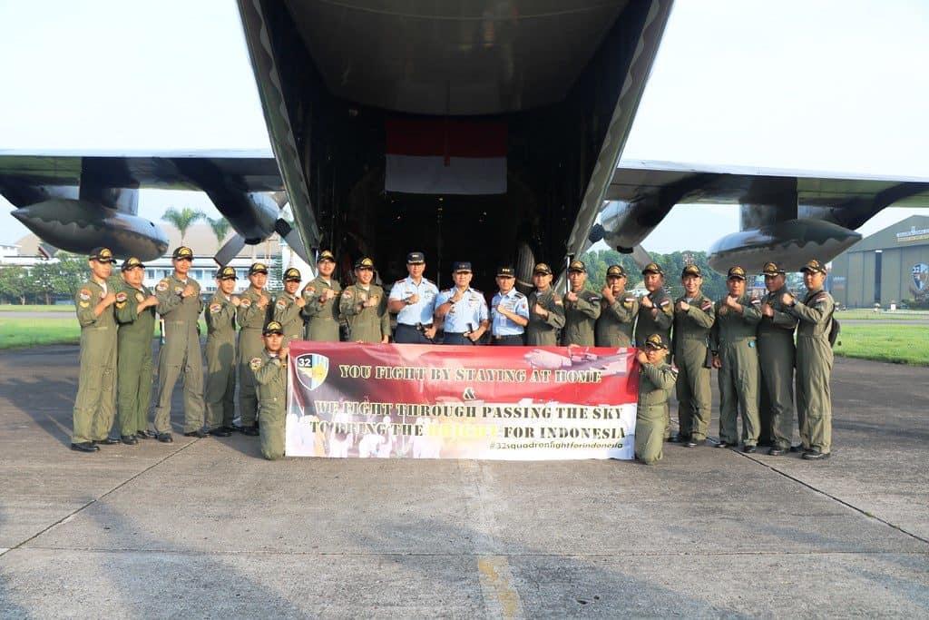 Komandan Lanud Abd Saleh Antar Keberangkatan Pesawat Hercules Ambil Alat Kesehatan ke China