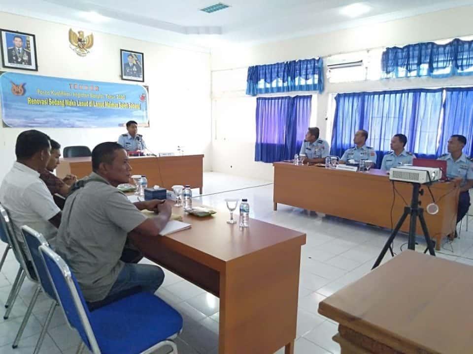 Tender Pasca Kualifikasi Kegiatan Bangfas/Pekerjaan Konstruksi TA 2020 di Lanud Maimun Saleh.
