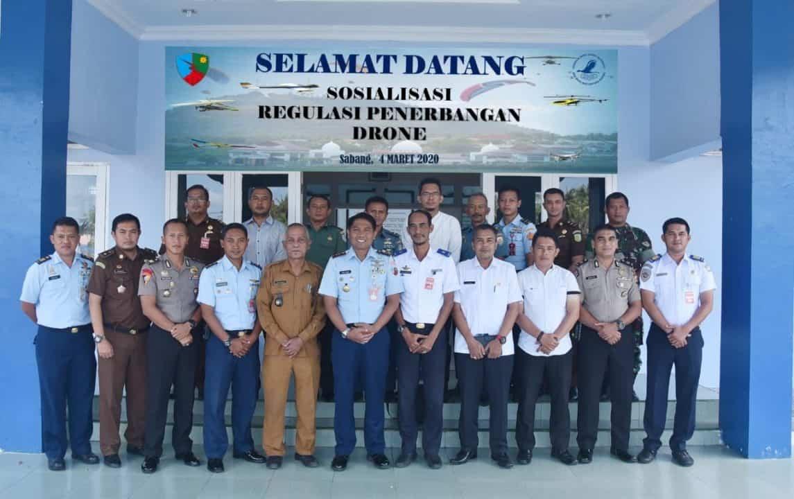 Lanud Maimun Saleh Sosialisasikan Regulasi Pengoperasian Pesawat Tanpa Awak ( Drone ).