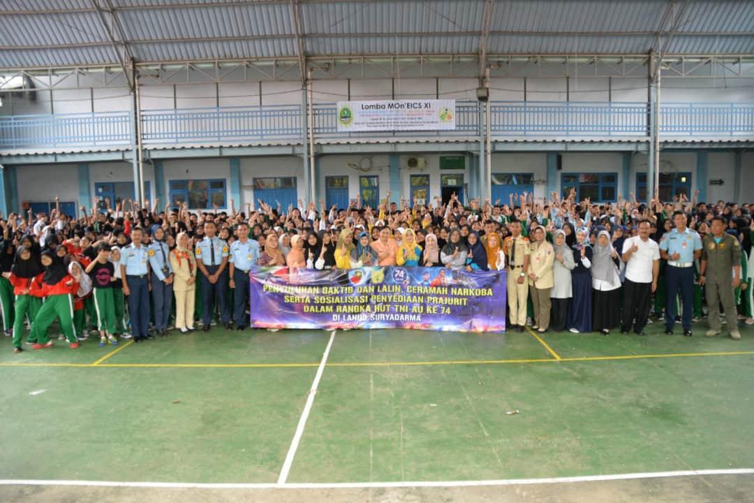 Lanud Suryadarma Berikan Edukasi Kepada Siswa SMP Dan SMA se-Subang