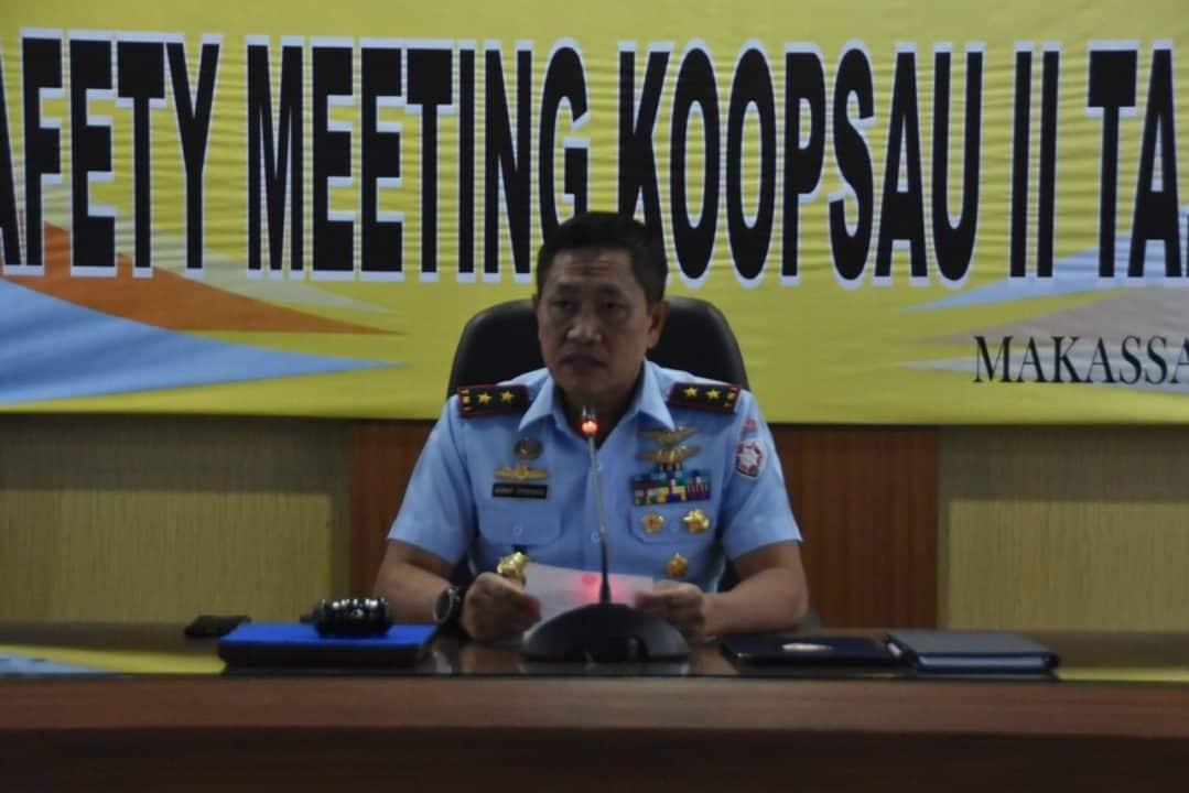Pangkoopsau II Membuka Kegiatan Safety Meeting Koopsau II Tahun 2020