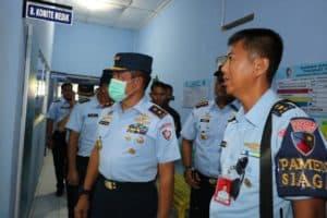 Pangkoopsau II Tinjau Posko Pencegahan Virus Corona Di Lanud Dhomber