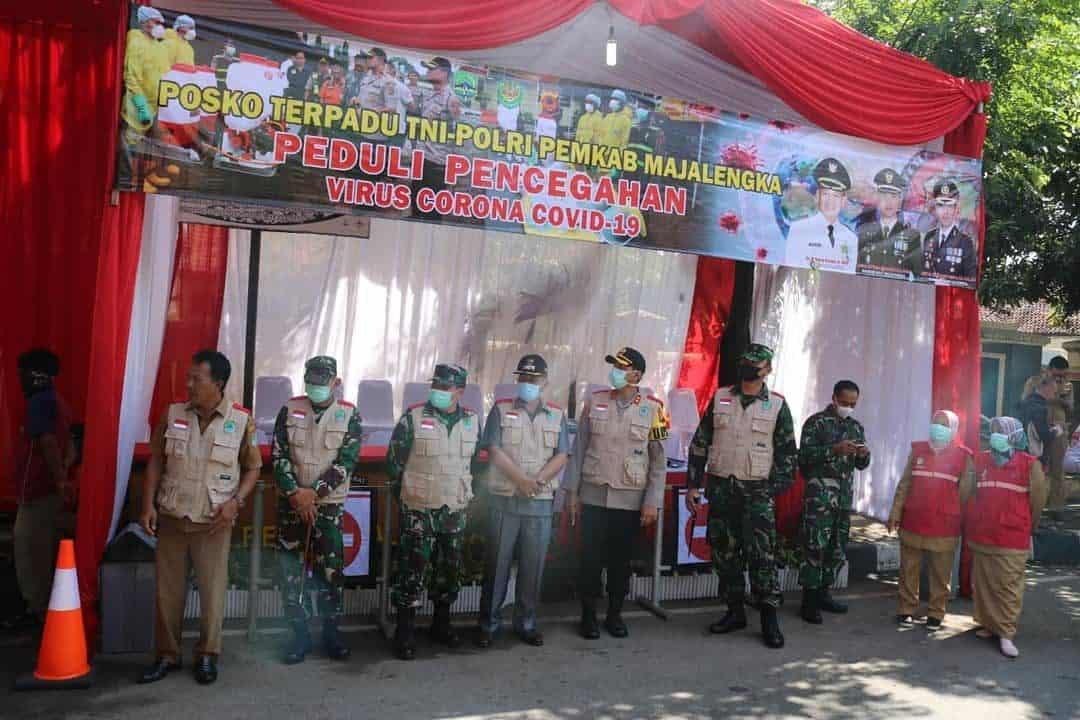 Komandan Lanud Sugiri Sukani Bersama Forkopimda Gelar Apel Kesiapan Penyemprotan Disinfektan
