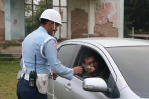 Satprov Denma Mako Korpaskhas Melaksanakan Sweeping Kendaraan