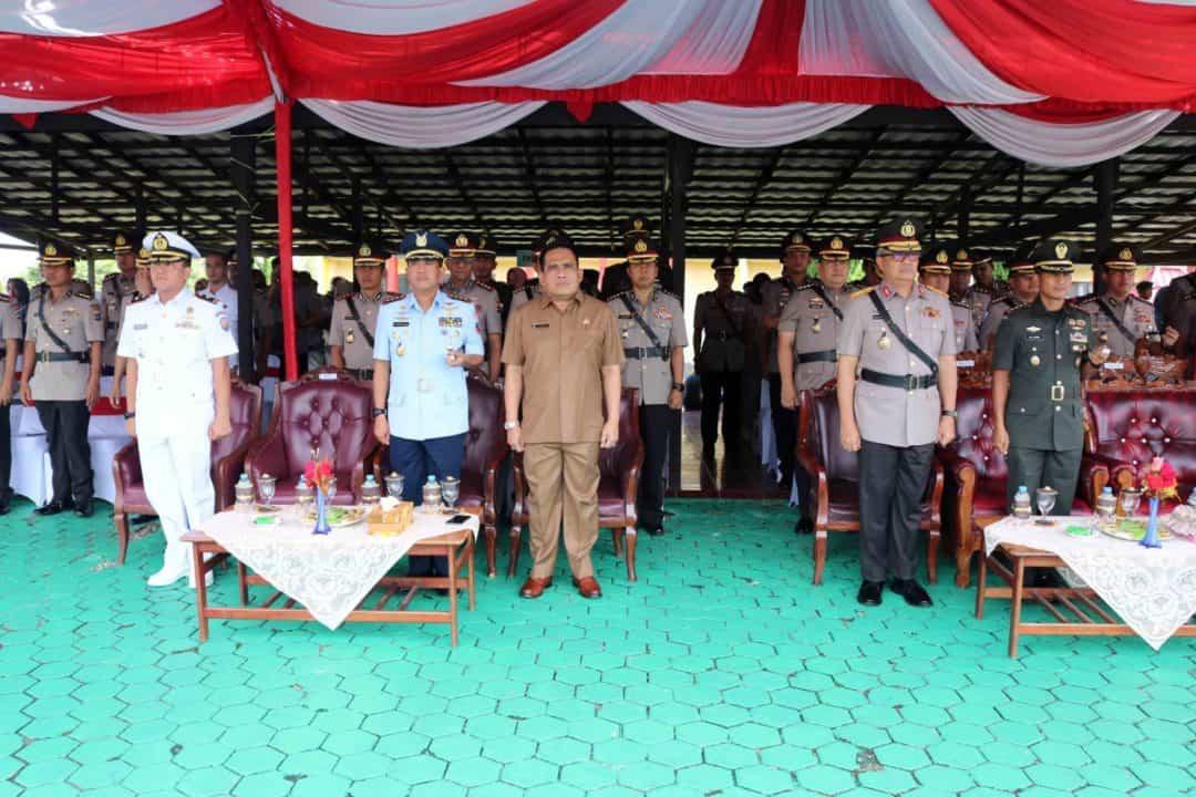 Komandan Lanud Sjamsudin Noor Hadir Dalam Upacara Pengambilan Sumpah dan Penutupan Pendidikan Diktukba Polri T.A. 2019/2020 di SPN Banjarbaru