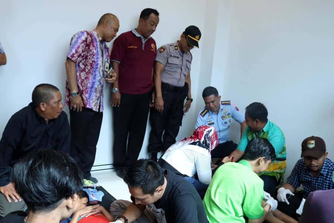Komandan Lanud Sjamsudin Noor Turut Tinjau Pelaksanaan Khitanan Massal di AP I Bandara Syamsudin Noor Banjarmasin