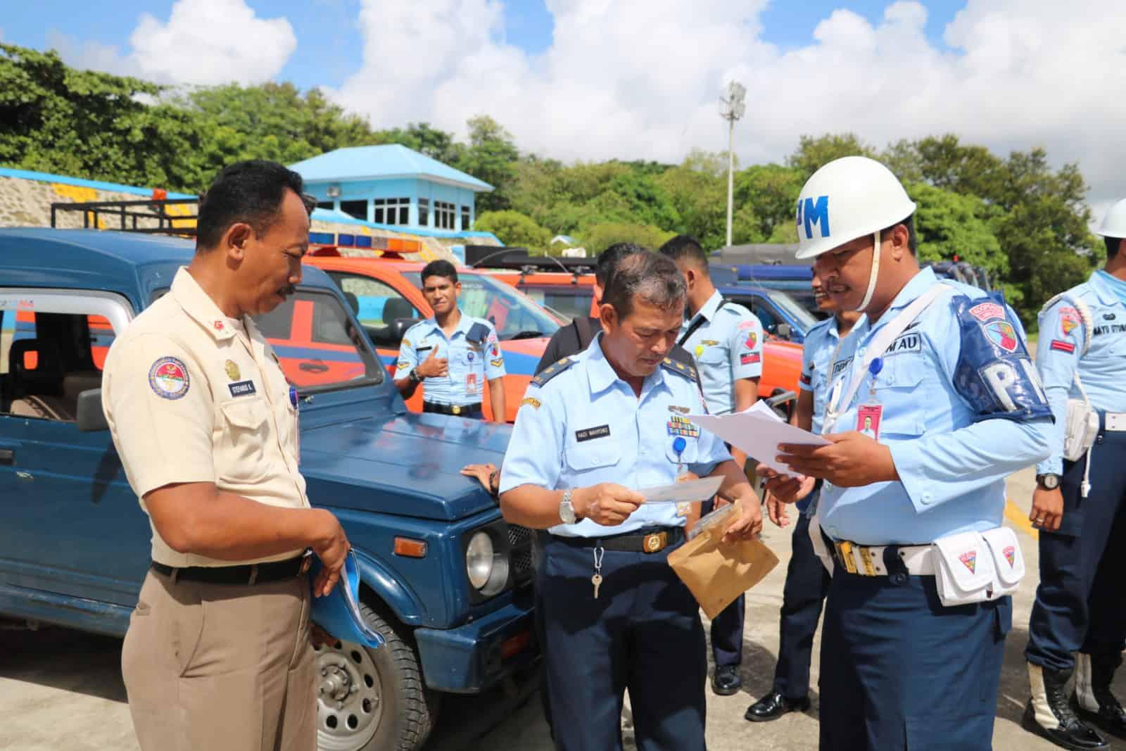 Pemeriksaan dan Pengecekan Kendaraan Dinas Lanud El Tari