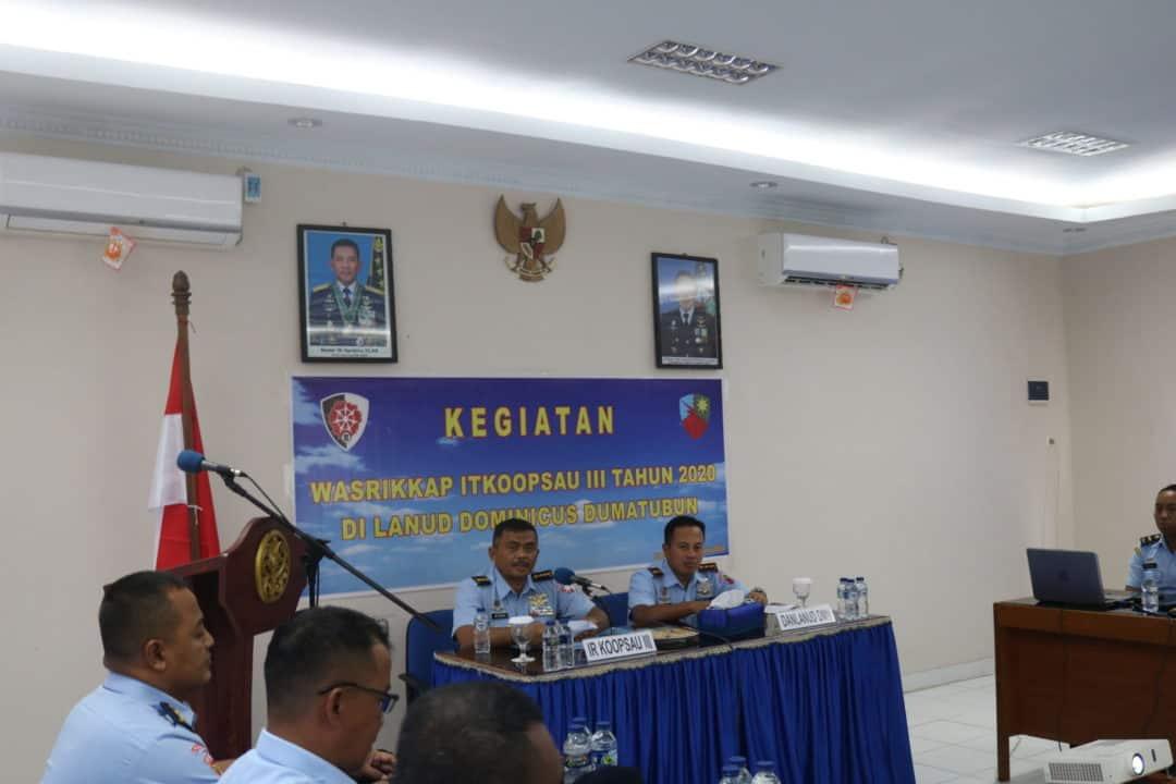 Lanud D. Dumatubun Terima Kunjungan Tim Wasrikkap ITKoopsau III TA 2020