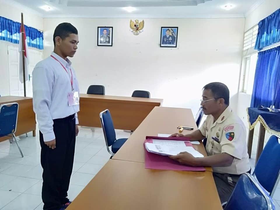 Dispers Lanud Maimun Saleh Gelar Seleksi Awal Penerimaan Calon Tamtama PK Gelombang I.