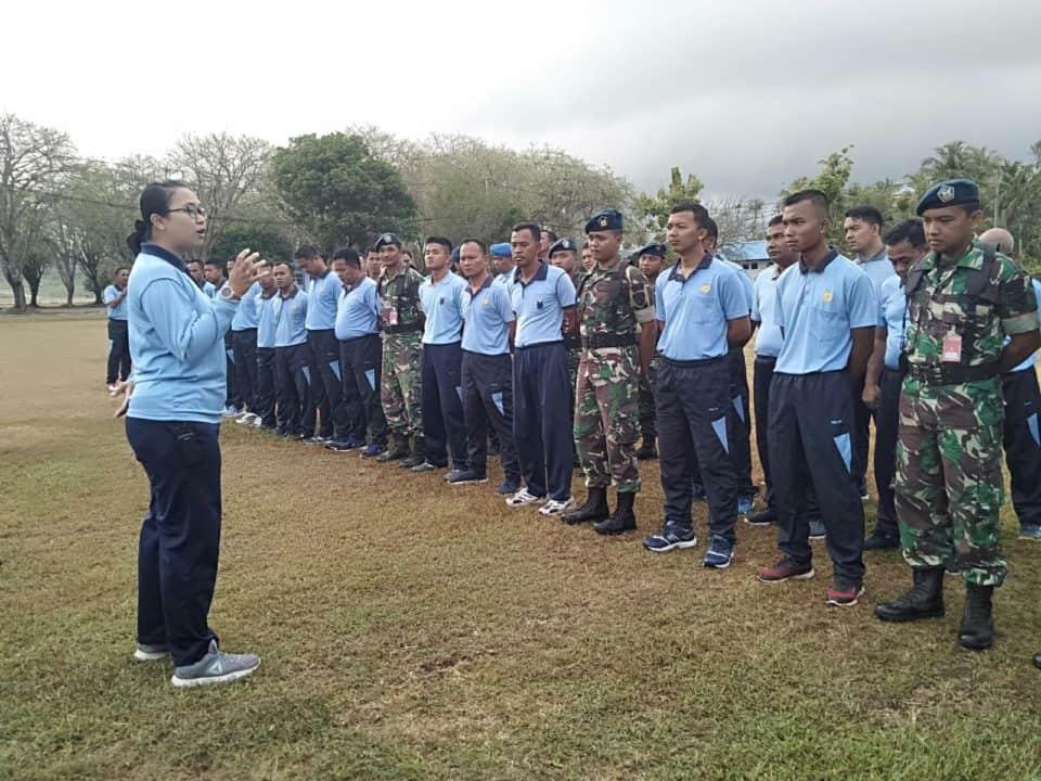 Siekes Pangkalan TNI AU Maimun Saleh (Lanud Mus) Sosialisasikan Virus Corona.