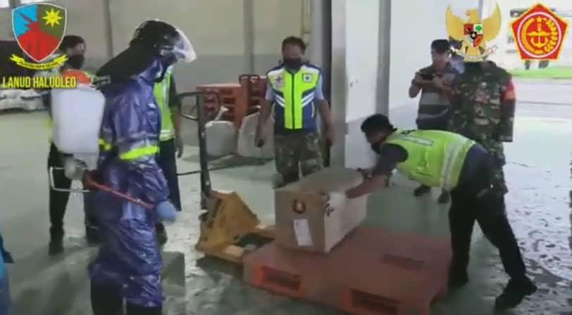 Penanganan Covid-19 di Bandara Haluoleo Kendari