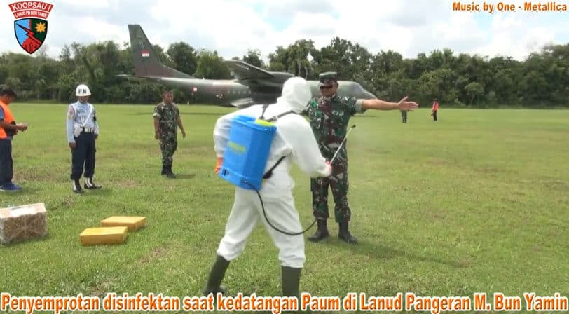 Penanganan Covid-19 di Lanud Pangeran M. Bun Yamin