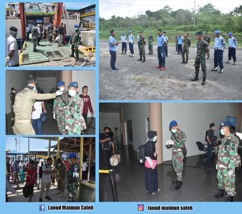 Pangkalan TNI AU Maimun Saleh ( Lanud Mus) Tergabung Dalam Satgas Melawan Covid-19 di Sabang.