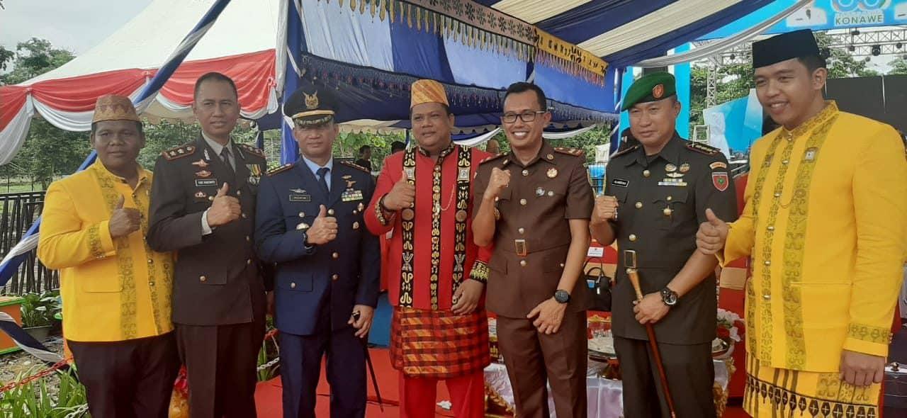 Danlanud Haluoleo Hadiri Upacara HUT Ke-60 Kabupaten Konawe dan HUT Ke-71 Satpol PP.