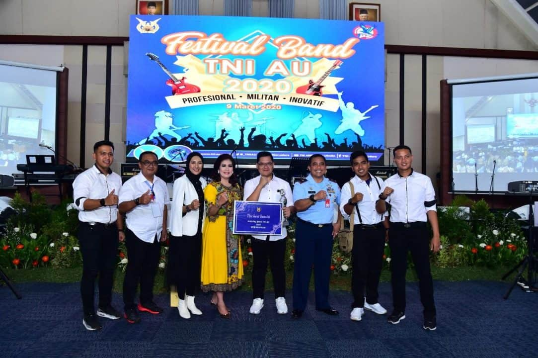 Tampil Perdana Pada Ajang Festival Band TNI AU Tahun 2020, Fighter Band Lanud Iswahjudi Langsung Ukir Prestasi