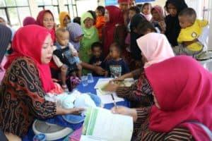 Posyandu Bersama dan Sosialisasi Penerimaan Peserta Didik Baru (PPDB) Sekolah Angkasa Lanud Sugiri Sukani