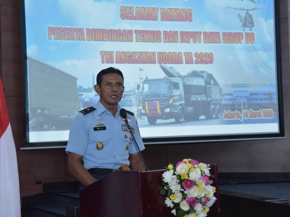 Sosialisasi dan Bimtek Sirup TA 2020, Aslog Kasau: TNI AU Bertekad Tingkatkan Input Data Pengadaan dalam Bentuk Aplikasi