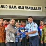 Danlanud RHF Terima Kunjungan Kunjungan Kakanwil DJP Kepulauan Riau