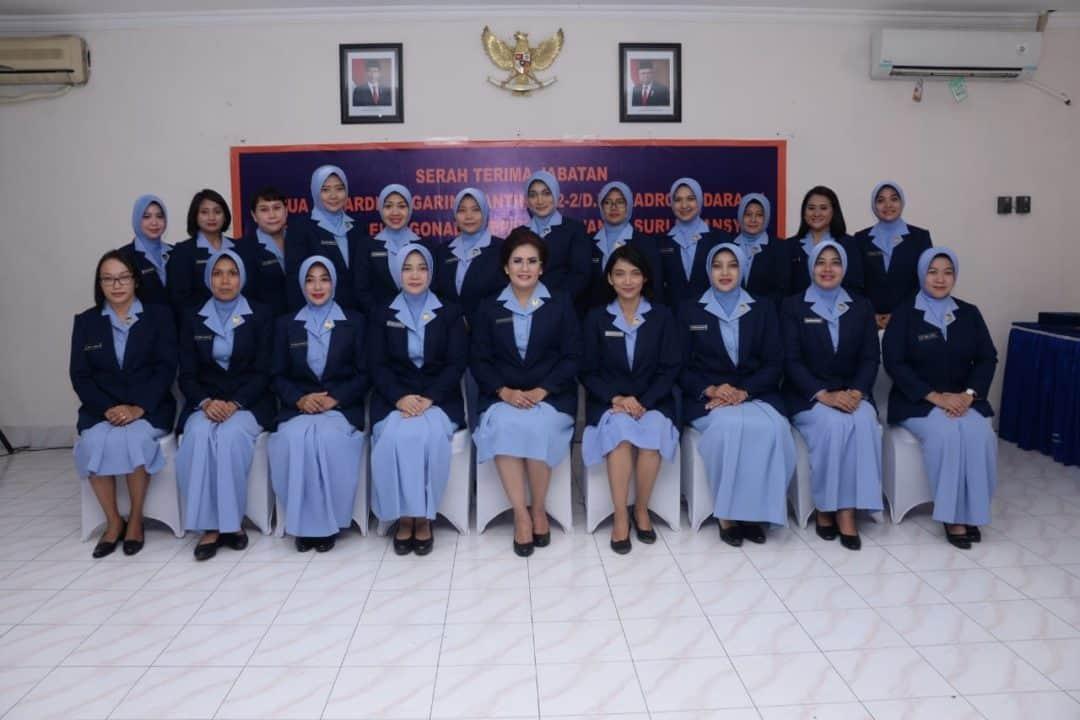 Ny. Yanti Ikoputra Pimpin Sertijab Ketua PIA AG Ranting 02-2/D.II Skadron Udara 14
