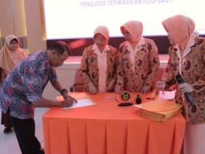 Ketua Yasarini Pengurus Perwakilan Koopsau I Buka Pelatihan Pemantapan Sistem Tutorial dan Penggajian Sekolah Angkasa