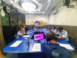 Sosialisasikan Penerimaan Taruna AAU, Danlanud RHF Dialog Interaktif Bersama RRI