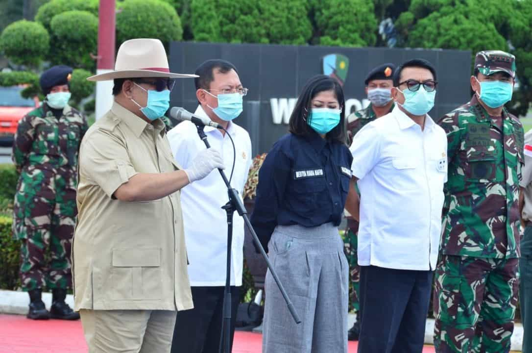 Menhan RI: Terimakasih TNI yang Telah Membawa Alat Kesehatan