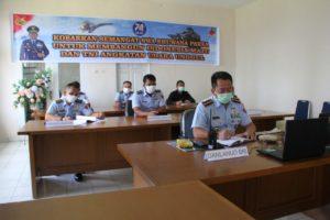 Danlanud Sam Ratulangi Mengikuti Rapat Yang Dipimpin Pangkoopsau II Melalui Video Conference