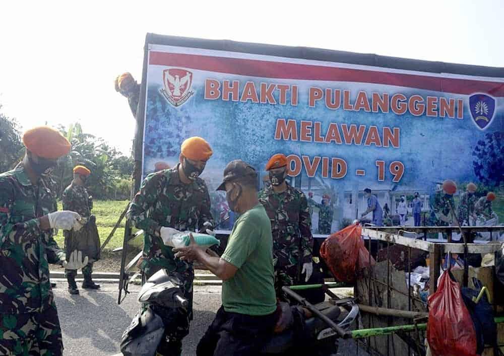 Aksi Peduli Covid-19, Batalyon Komando 462 Paskhas Laksanakan Kegiatan Bakti Pulanggeni Melawan Covid-19