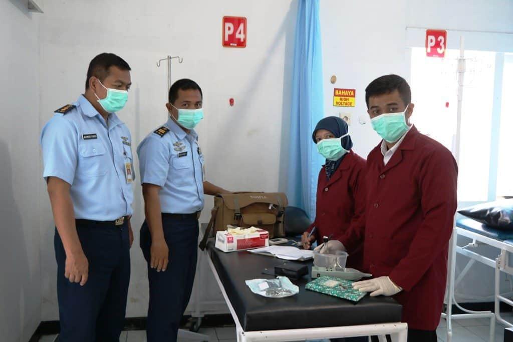 Rumah Sakit dr M. Munir Lanud Abdulrachman Saleh Jalani Uji Ruang dan Swab