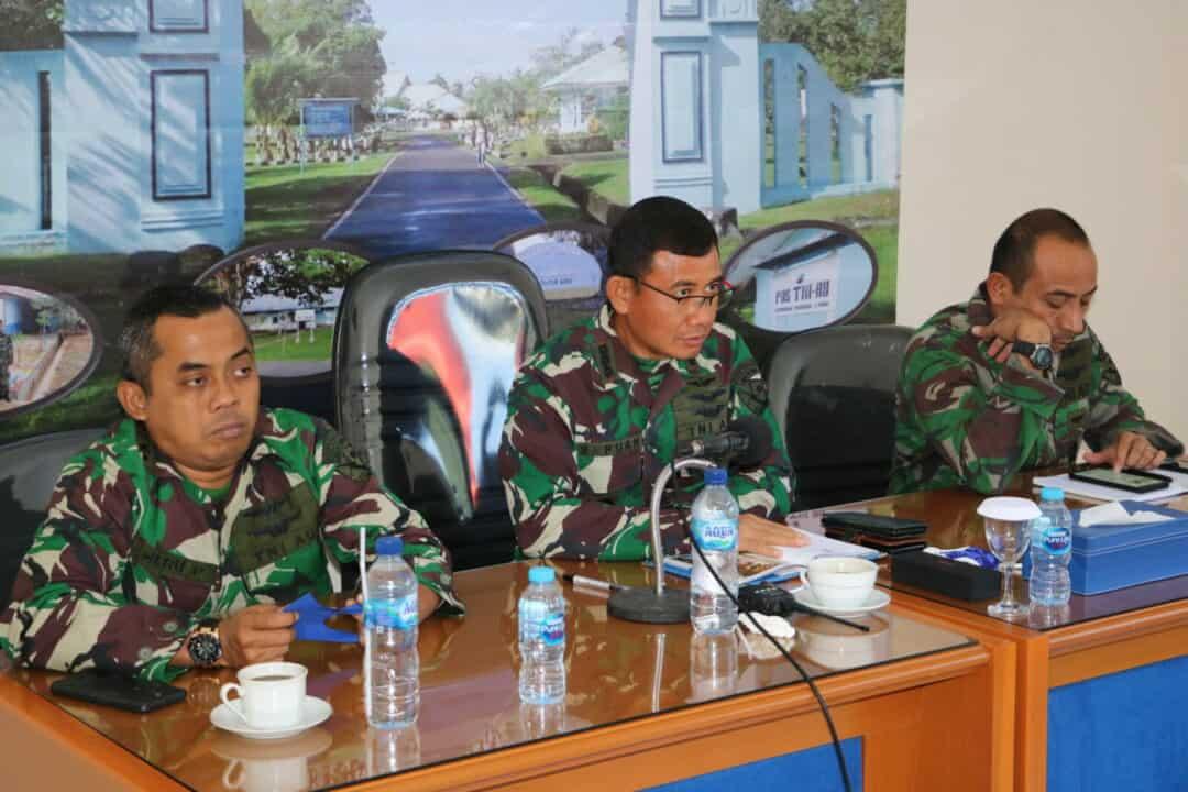 Danlanud Pattimura Ikuti MUSRENBANG RKPD Provinsi Maluku Dengan Virtual Meeting