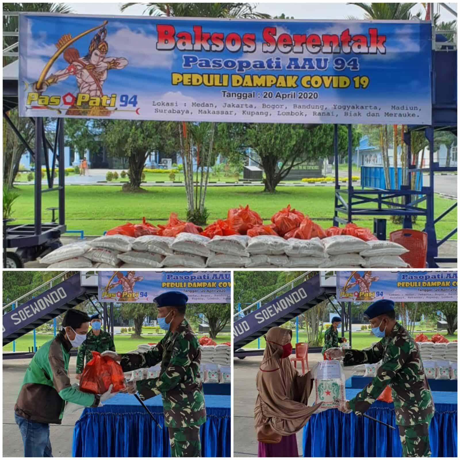 Alumni Pasopati AAU 94 Baksos Serentak Bagikan Sembako Peduli Dampak Covid-19