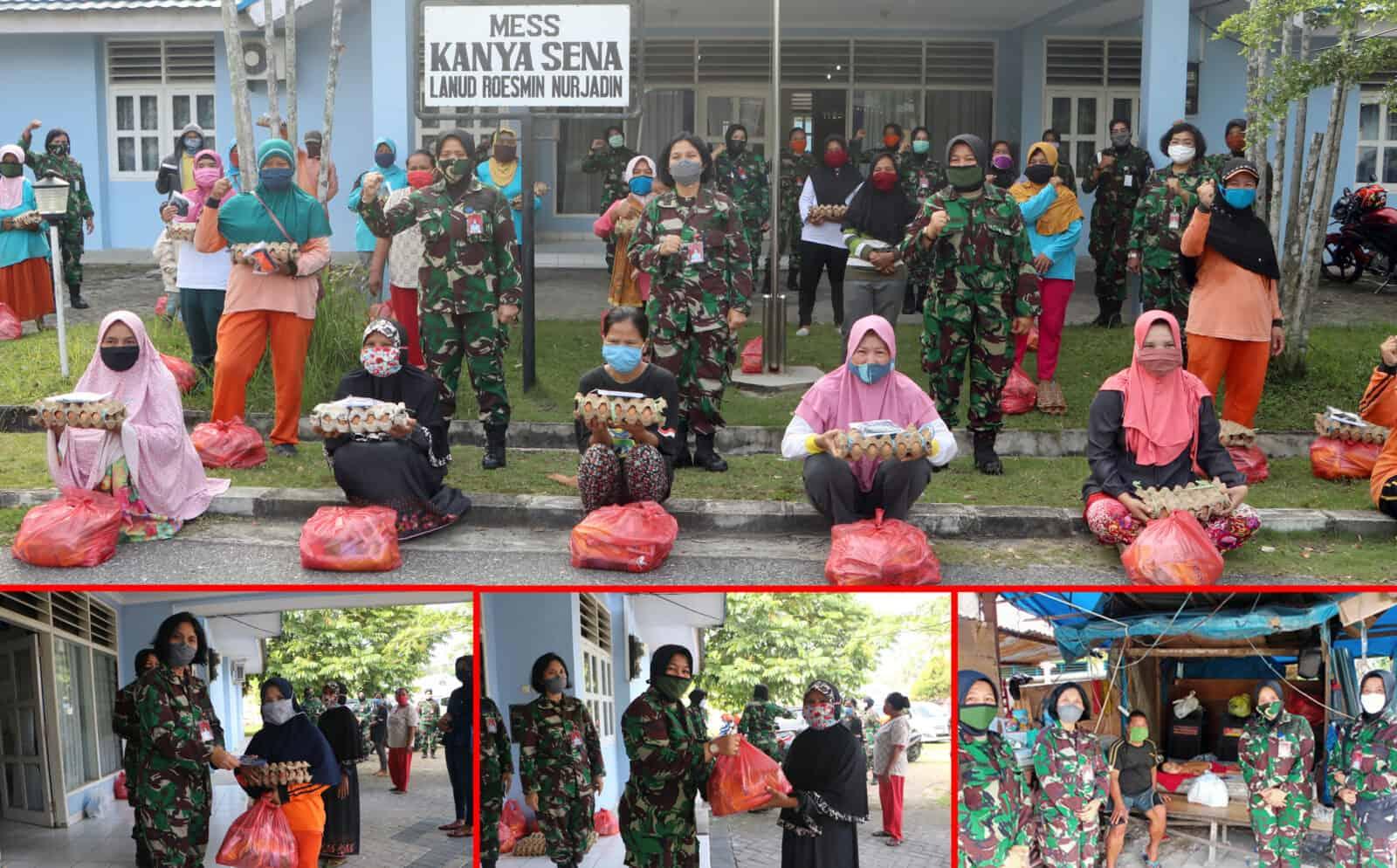 Hari Kartini, Srikandi Lanud Rsn Turut Berbagi