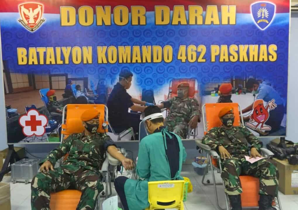 Yonko 462 Paskhas Donorkan Darah, Antisipasi Kekurangan Stok Darah PMI