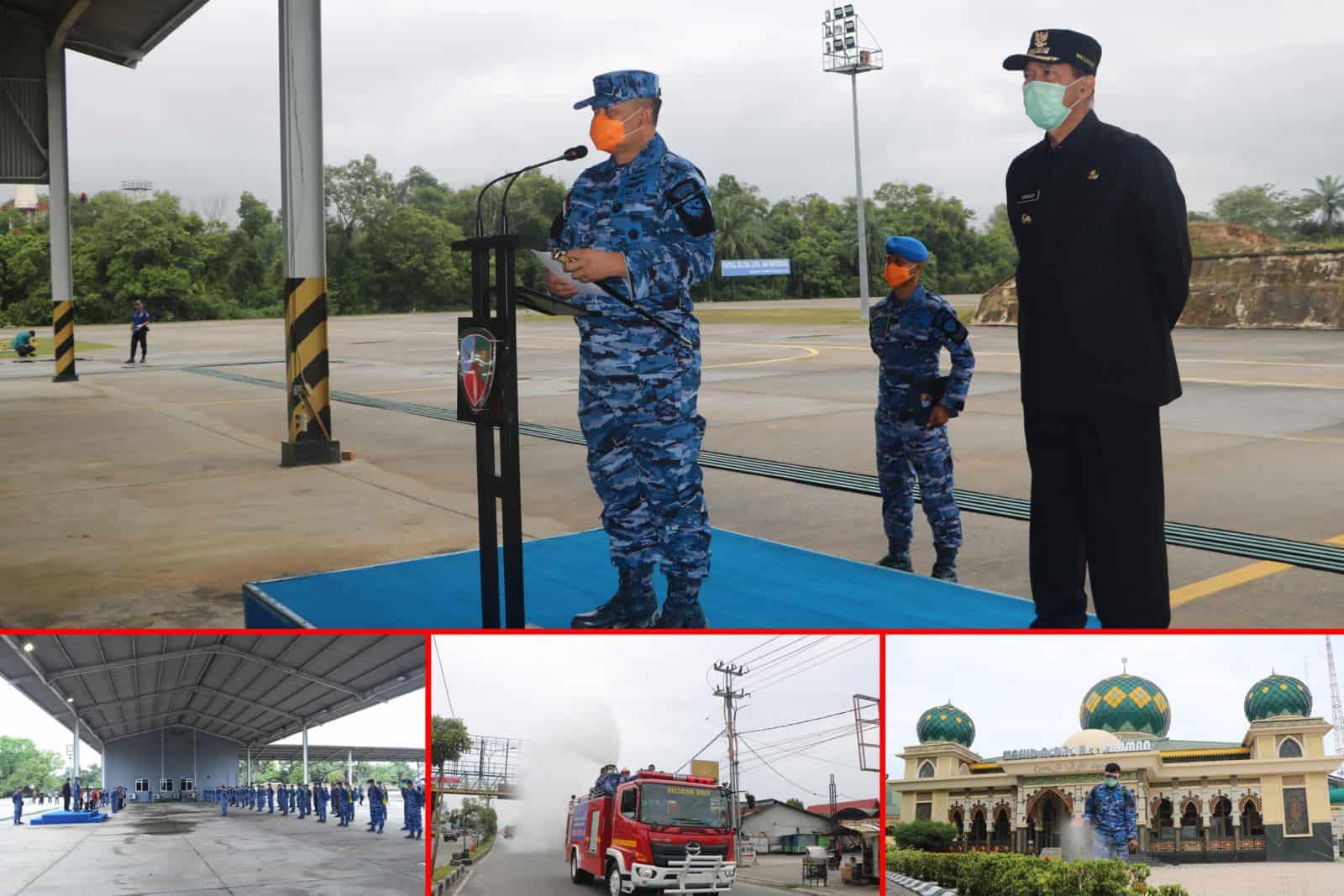 Bersempena HUT TNI AU Ke-74, Lanud Rsn Dukung Pemda Cegah Covid-19
