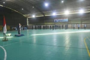 Upacara Hut Ke-74 TNI Angkatan Udara di Lanud Wiriadinata