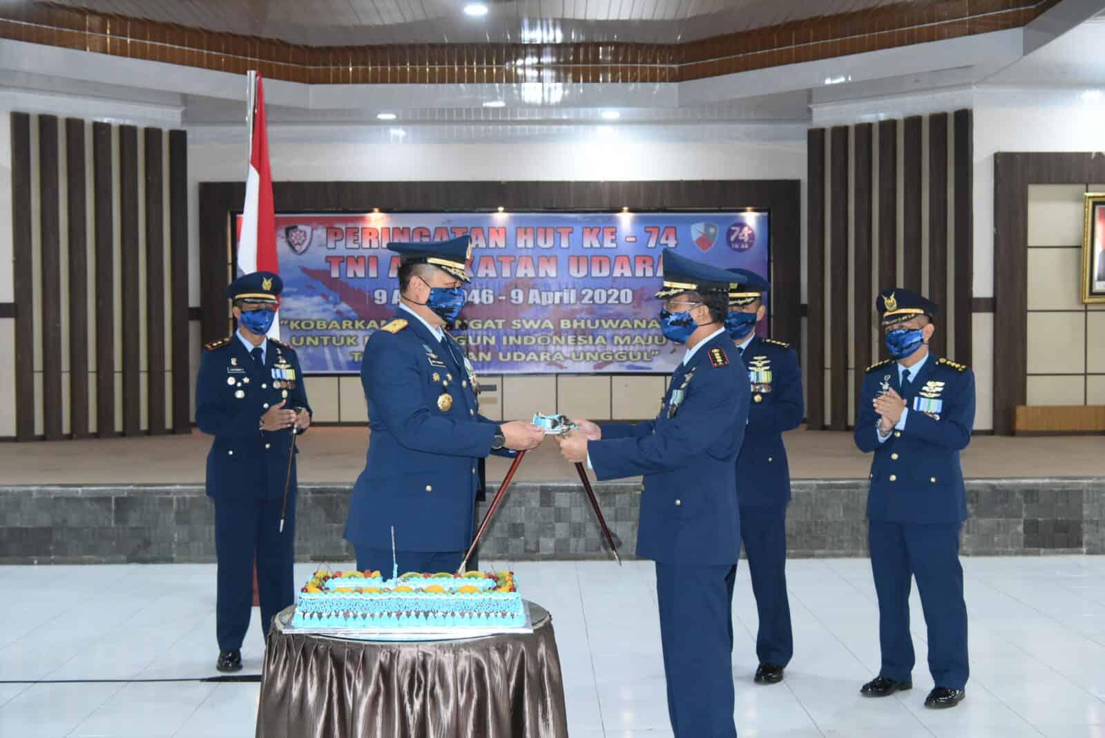 Sempena Hut TNI AU Ke-74 , Lanud Rsn Gelar Upacara Secara Sederhana