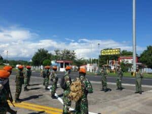 Komandan Lanud Sam Ratulangi Menyambut Kedatangan Tim Satgas Pengamanan Aset Kalawiran dan Tasuka.