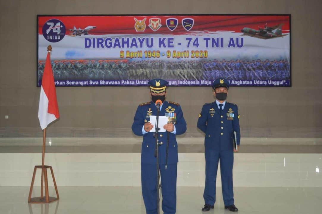 Wing III Paskhas dan Yonko 469 Paskhas laksanakan Upacara Peringatan HUT ke-74 TNIAngkatan Udara