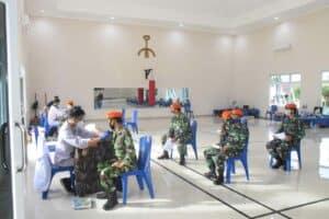 Prajurit Paskhas Makassar Bantu PMI Memenuhi Stok Darah Di Tengah Pandemi Corona