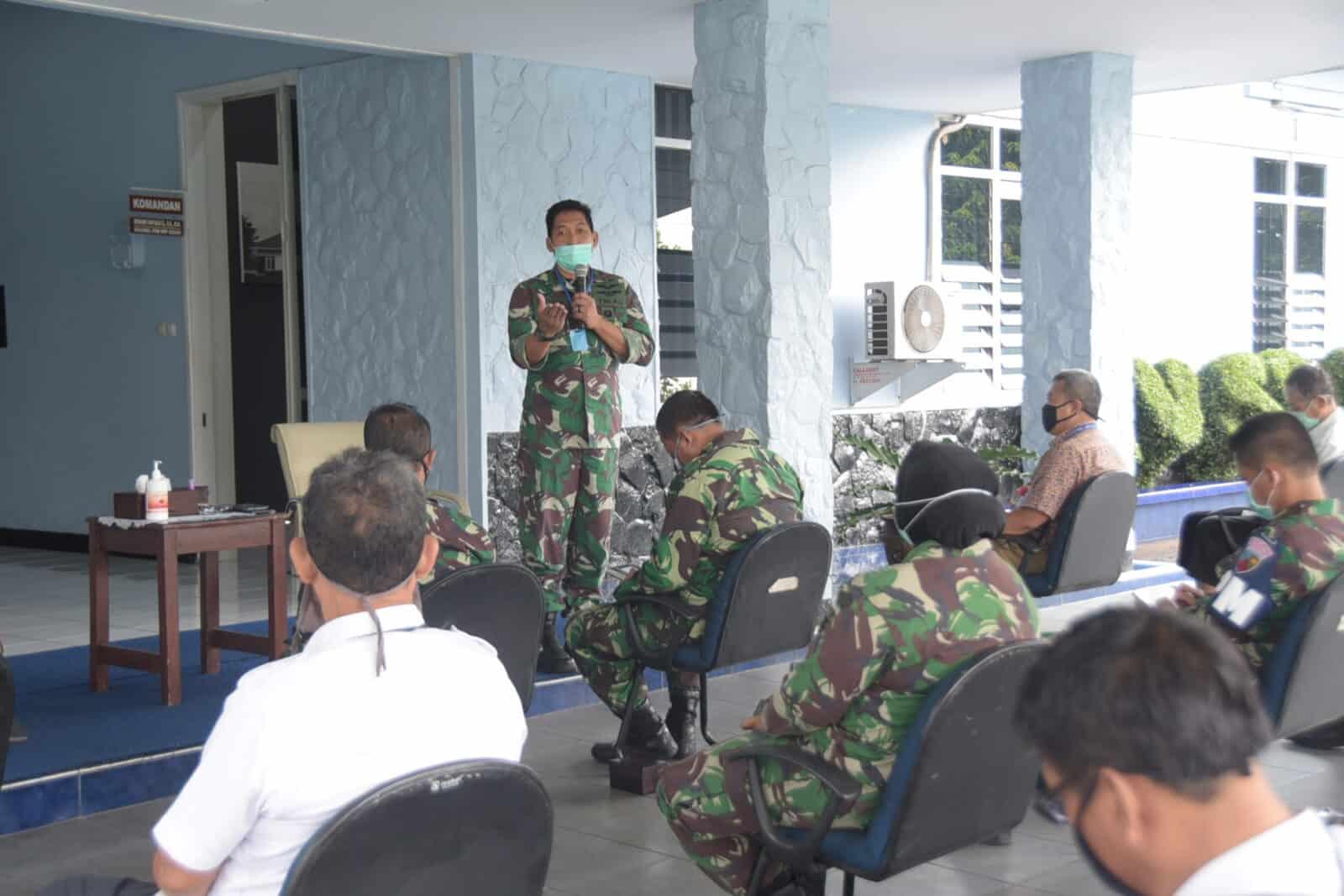 Danlanud Husein Sastranegara Adakan Rapat Terbatas PSBB