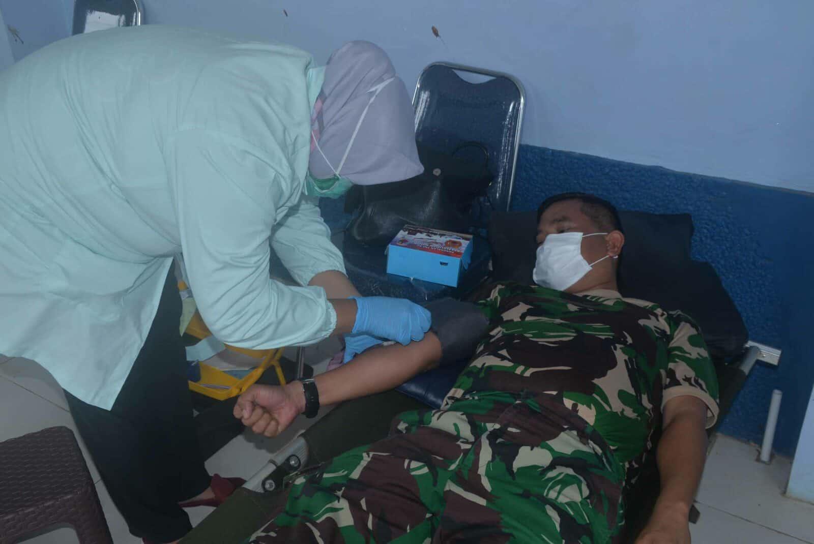 Stok Darah Kurang Akibat Pandemi Covid-19 Lanud Sjamsudin Noor Bantu PMI Banjarbaru Dengan Laksanakan Donor Darah