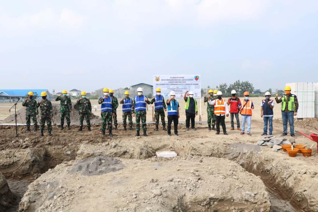 Komandan Lanud Adi Soemarmo Melaksanakan Peletakan Batu Pertama Di Lahan Pengganti Komplek Sukhoi