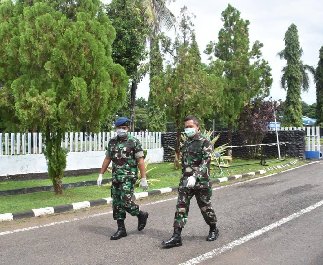Personel Koopsau II dan Jajarannya Wajib Pakai Masker dan Physical Distancing