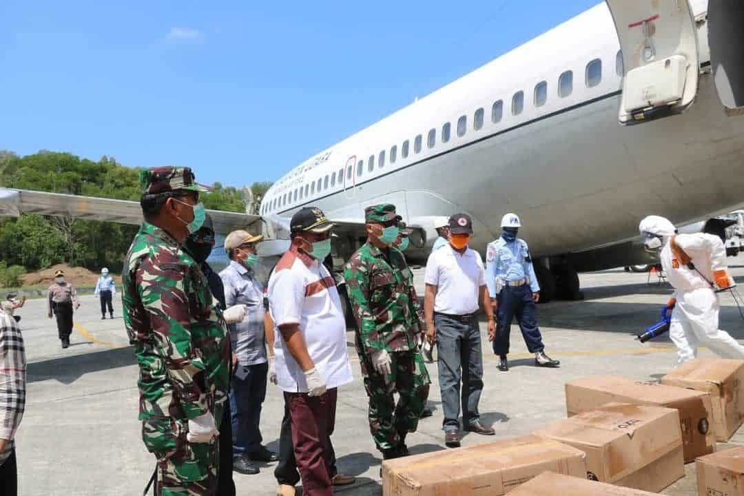 Kedatangan Ribuan Alat Pelindung Diri Dan Masker, Bantuan Dari Pemerintah Pusat Untuk Satgas Penaggulangan Covid-19