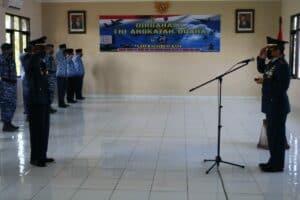 Lanud Sugiri Sukani Melaksanakan Upacara HUT ke-74 TNI AU di Gedung Suryadharma