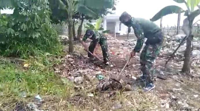 Personel Lanud Husein Sastranegara Melaksanakan Program Ketahanan Pangan